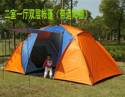 two bedroom tent 5 persons high quality windproof waterproof outdoors double layer one hall two bedroom