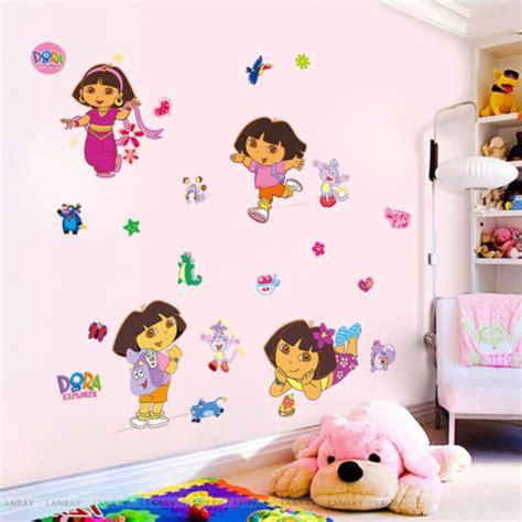 dora the explorer bedroom decor home decoration dora explorer monkey wall sticker girls decor kids mural
