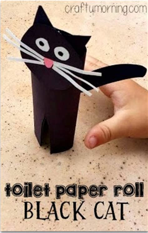 Black Craft Paper Roll - fall themed toilet paper roll crafts for