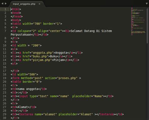 membuat database perpustakaan mysql membuat sistem perpustakaan dengan php mysql risma