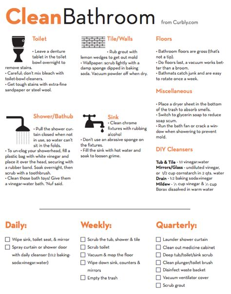 bathroom supplies list bathroom cleaning checklist and cheat sheet free pdf