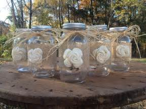 shabby chic wedding decorations for sale set of 5 shabby chic rustic jars with sola flower