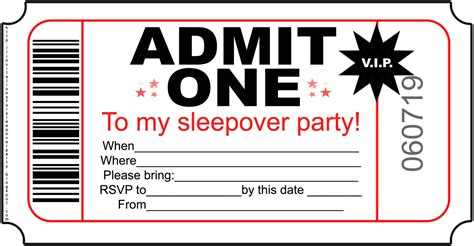 free printable sleepover invitation templates printable invites template best template collection