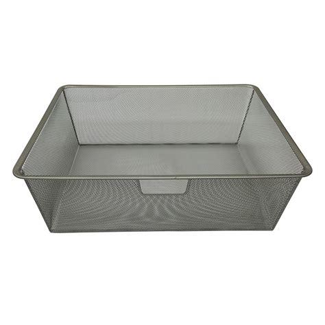 white wire mesh drawer organizer closetmaid shelftrack 5 ft to 8 ft white wire closet