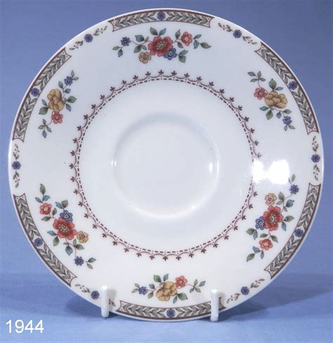 Antique Victorian Vases Royal Doulton Kingswood Bone China Tea Saucer Collectable