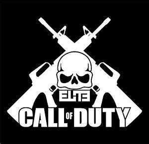 call of duty elite skull & crossed ar 15 decal mw3 | ebay