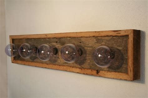 oak bathroom light fixtures vanity light fixture reclaimed oak barnwood vanity