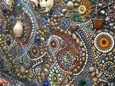 Mosaic Garden Wall Mosaic Outdoors Pinterest Mosaic Garden Ideas