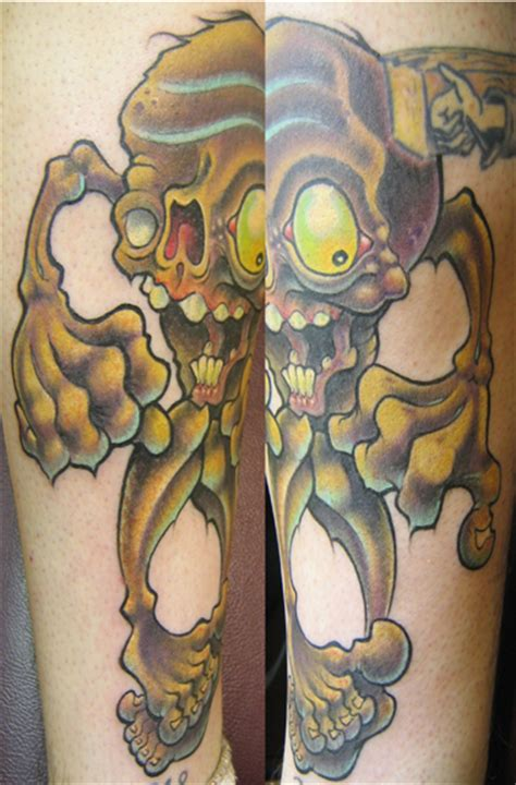 electric zombie tattoo jime litwalk s designs tattoonow