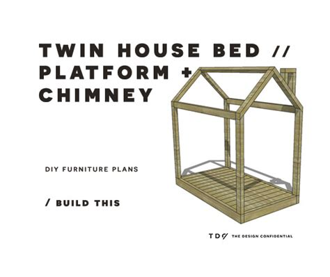 diy furniture plans   build  twin house bed