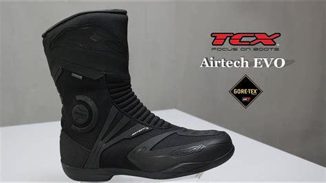 tcx airtech evo goretex motosiklet botu oezen tv youtube