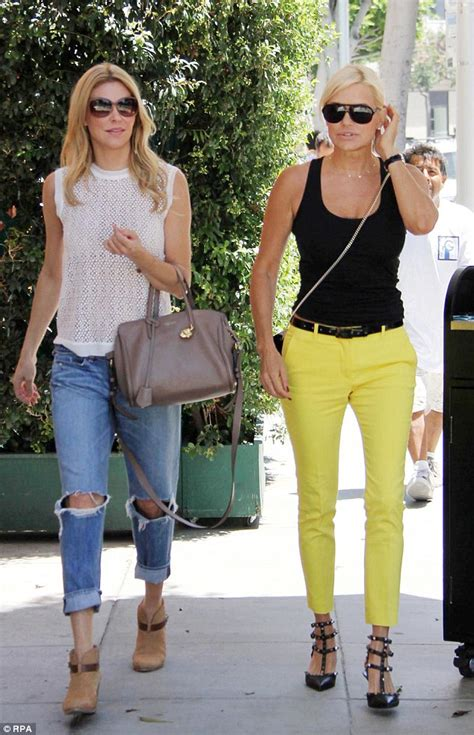 yolanda foster clothes brandi glanville and yolanda foster film real housewives
