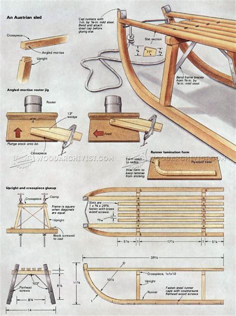 diy wooden sleigh woodarchivist