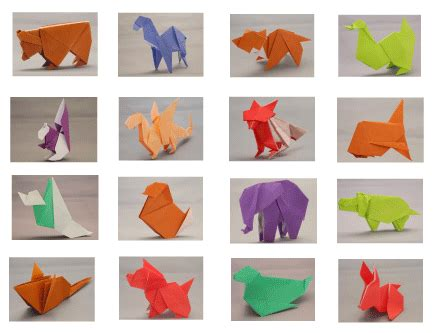 Origami Lessons - quot origami animals quot set book origami paper and a free