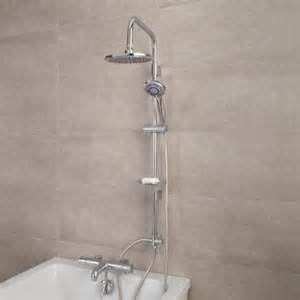 focus thermostatic deck mounted bath shower mixer with