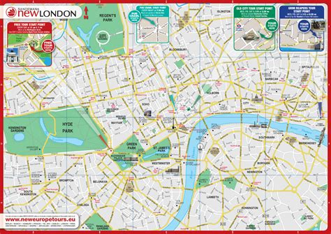 Printable Map London City Centre | maps update 600424 tourist map of london england