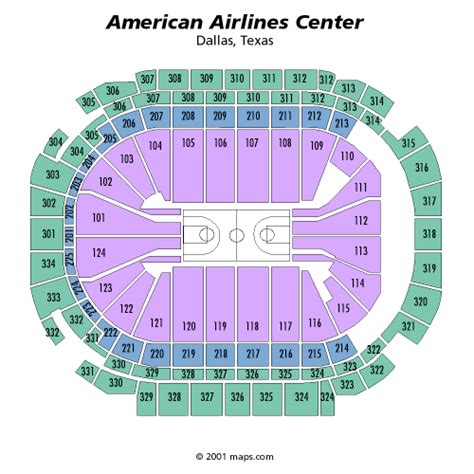 american airlines arena seating chart dallas american airlines center
