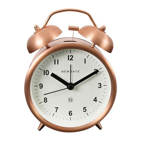 buy newgate clocks bell alarm clock radial copper amara