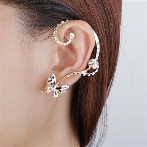 how to make ear wrap jewelry fashion gold butterfly ear wrap earring new stud