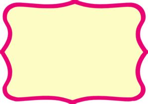 Buku Kkpk My Writing World simple pink frame clipart