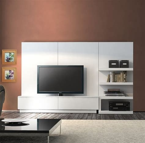 Meuble Tv Mural Design Gris