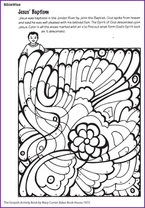 Free Coloring Pages Of Jesus Is Baptized Baptism Of Jesus Coloring Page