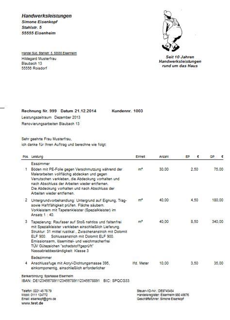 Muster Angebot Reise Ralf Walz Handwerkersoftware F 252 R Apple Mac