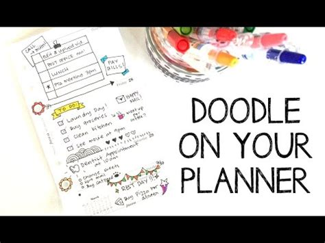 doodle planner doodle on your planner