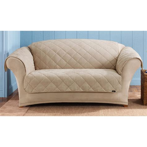 suede loveseat sure fit 174 reversible suede sherpa loveseat pet cover