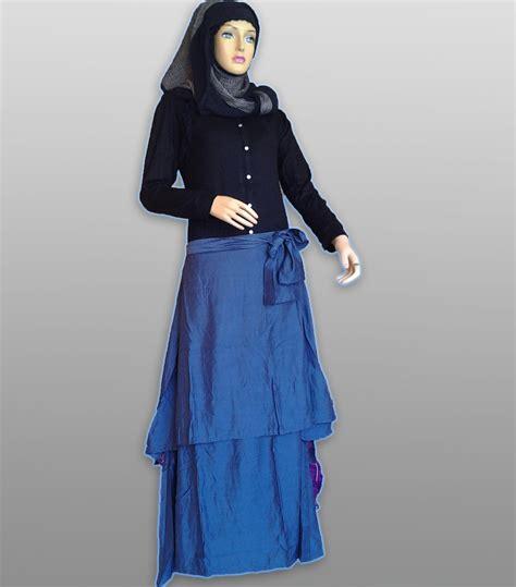Kirey Blouse by Su Amara Biru Hitam Baju Muslim Gamis Modern