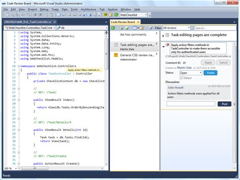 tfs code review workflow tfs2012 code review plugin for visual studio and tfs