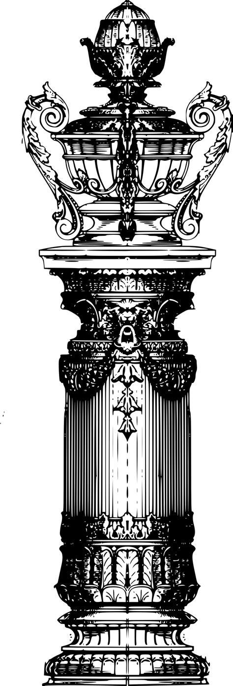 Blueprint Design clipart decorative pillar