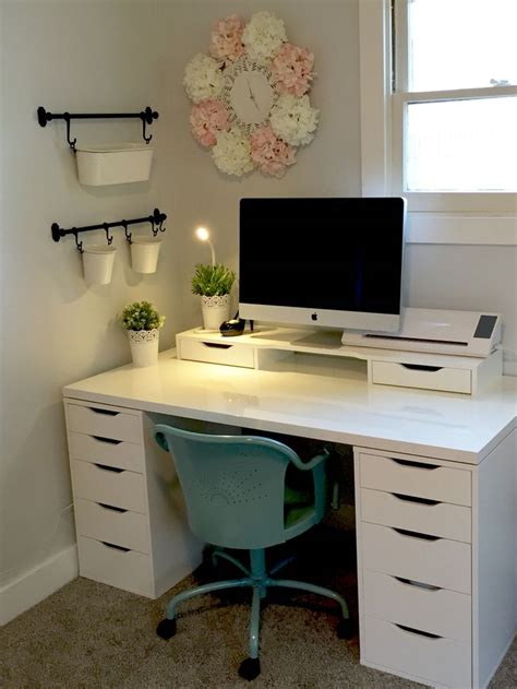 Work Desk Ideas 25 Best Ideas About Ikea Desk On Pinterest Desks Ikea Ikea Organization And Ikea Craft Storage