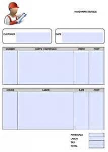 free handyman invoice template excel pdf word doc