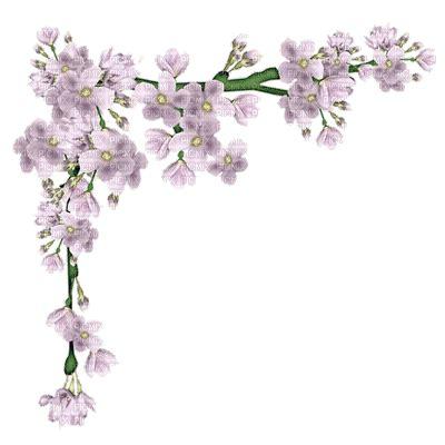 flower branch gif animated corner, flower branch picmix