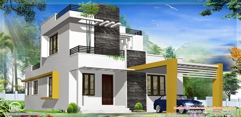 modern house blueprint modern contemporary home 1949 sq ft kerala home design