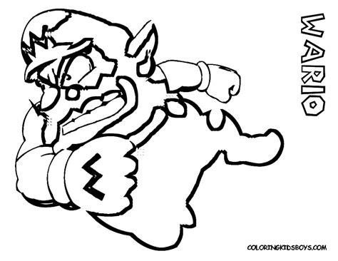 free coloring pages of mario wario