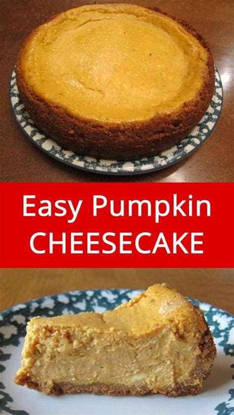 easy pumpkin cheesecake recipe