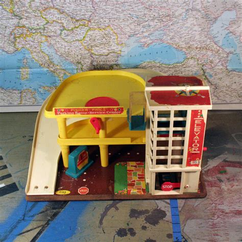 Fisher Price Garage by Vintage Fisher Price Parking Garage By Chompmonster On Etsy
