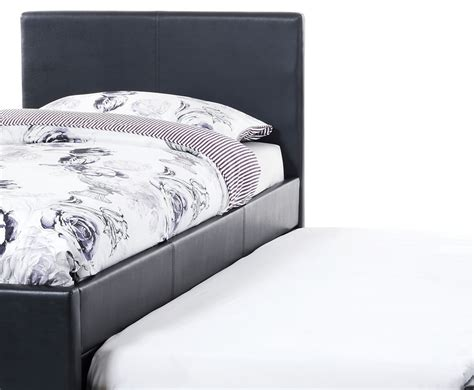 Guest Bed Leather Eliza Black Faux Leather Guest Bed Frances Hunt