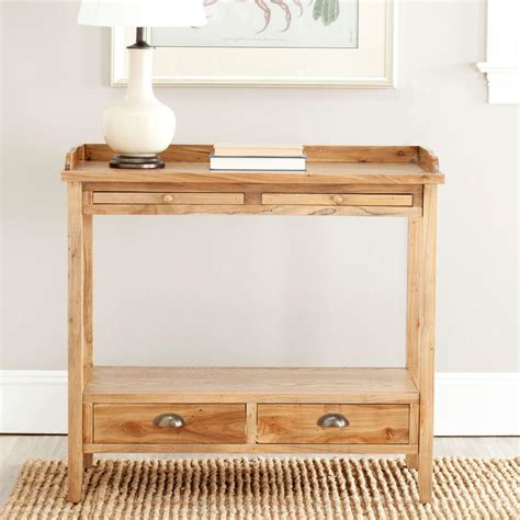 oak sofa table with storage safavieh peter oak storage console table amh6571a the