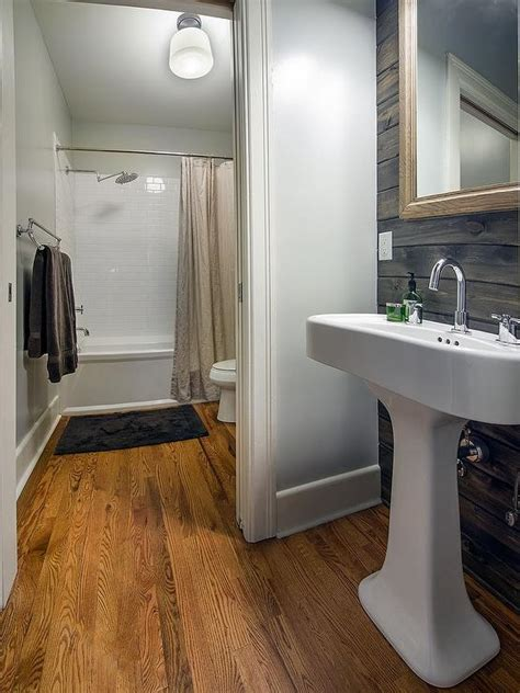 bm bathroom plank wall eclectic bathroom benjamin moore