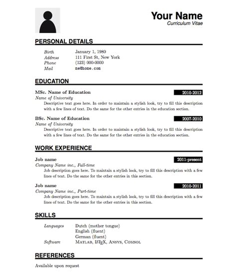 fresh graduate cv template resume sle for fresh graduate jennywashere