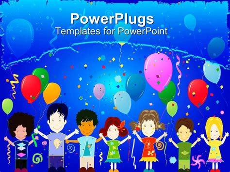 Powerpoint Template Birthday Celebrations Among Kids Without Discrimination 18222 Birthday Powerpoint Templates