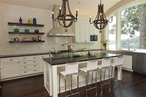 Kitchen Floating Shelves Height New York Stainless Steel Shelving Kitchen Traditional With