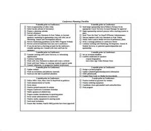 Conference Planning Template by Sle Conference Planning Template 9 Free Documents In