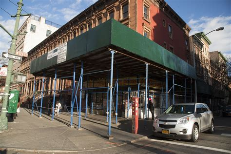 Sidewalk Shed Nyc by A Cure Emerges For New York S Sidewalk Shed Epidemic As