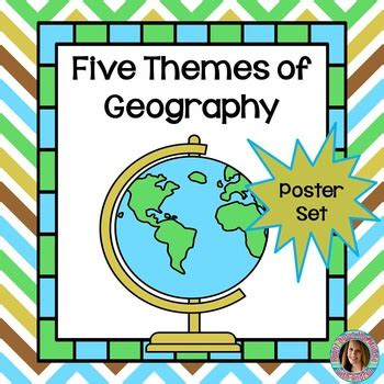 5 themes of geography for australia themes of geography poster set by right down the middle