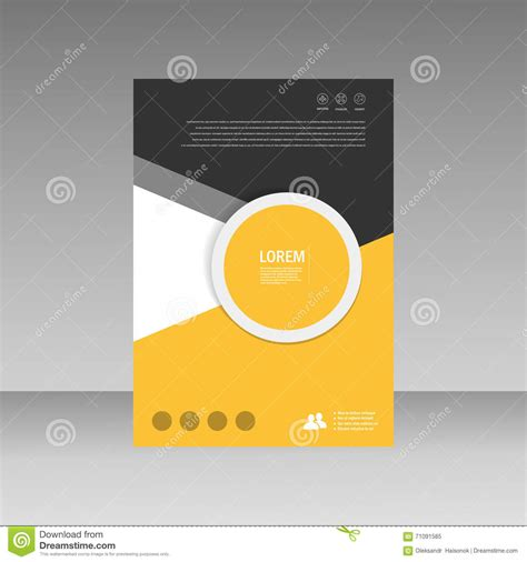 cover layout design vector vector leaflet brochure flyer template a4 size design