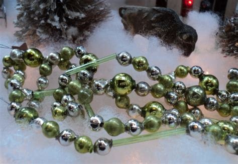 unusual shape vintage czech glass bead christmas tree garland